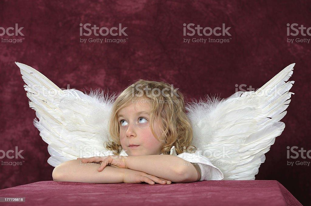 blond angel stock photo