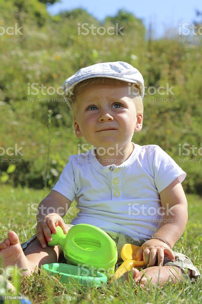 blond baby child royalty-free stock photo