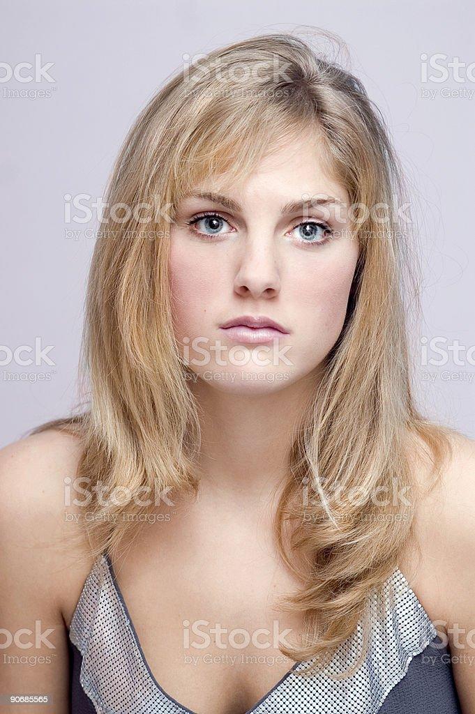 Blond Beauty Portrait stock photo