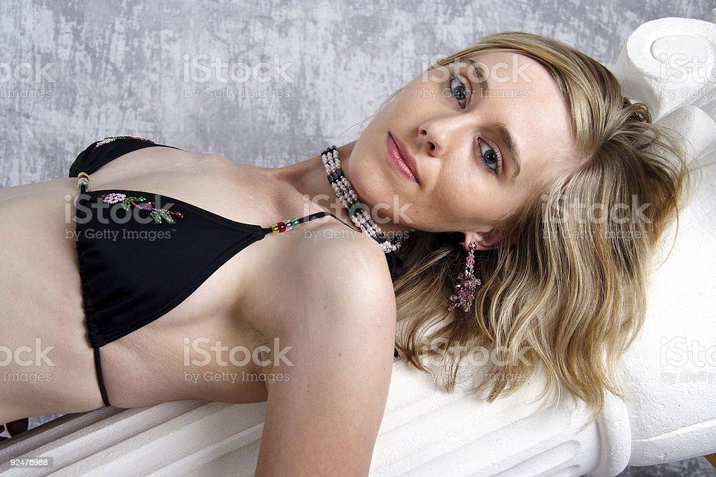 Blond Bikini Beauty No.2 royalty-free stock photo