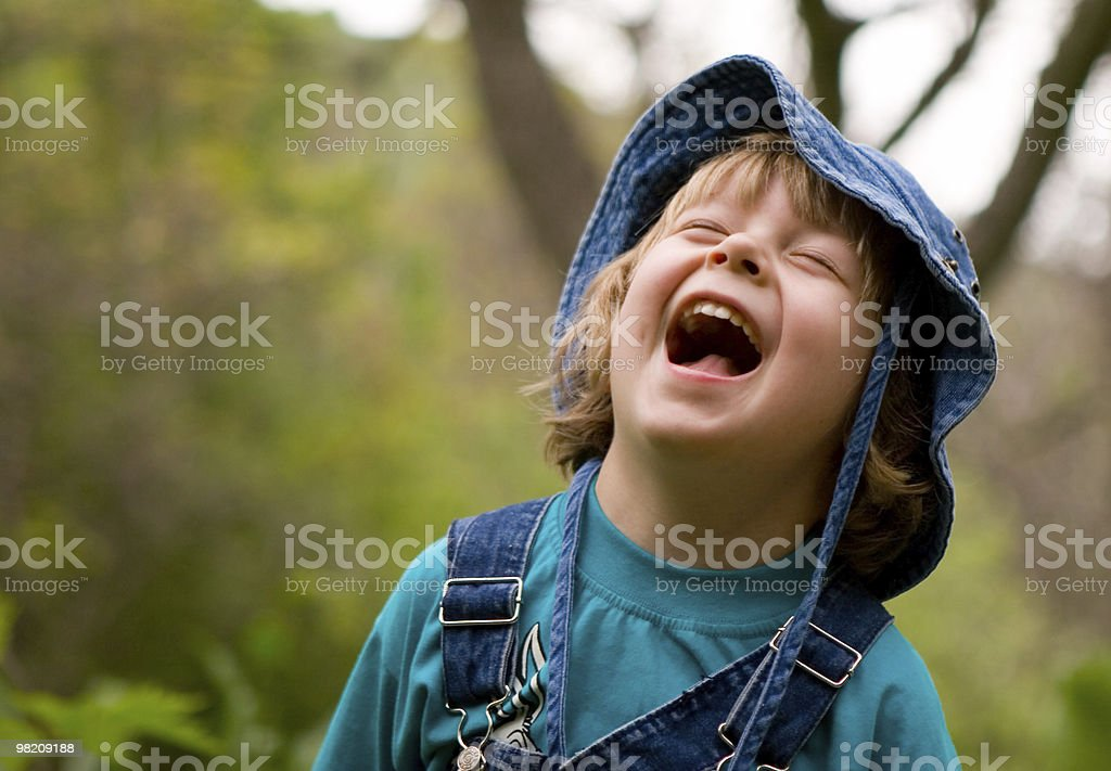 Blond boy are laughing (series Children) royalty-free stock photo