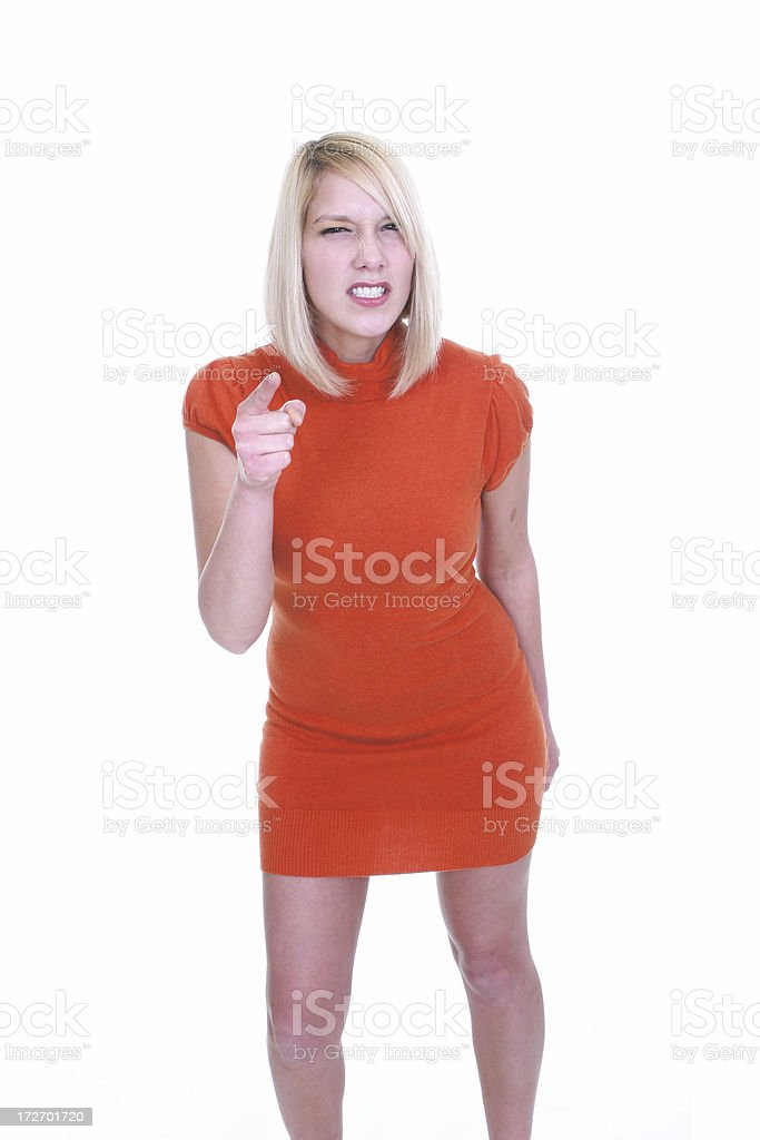 Blond Business Woman Angry royalty-free stock photo