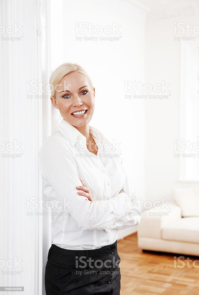 Blond businesswoman royalty-free stock photo