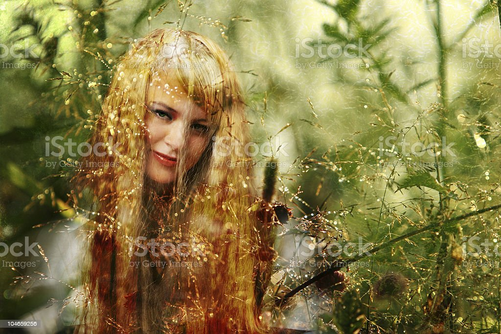 blond druid royalty-free stock photo