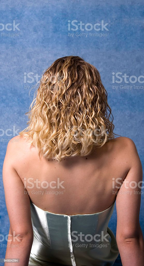 Blond Female Back royalty-free stock photo