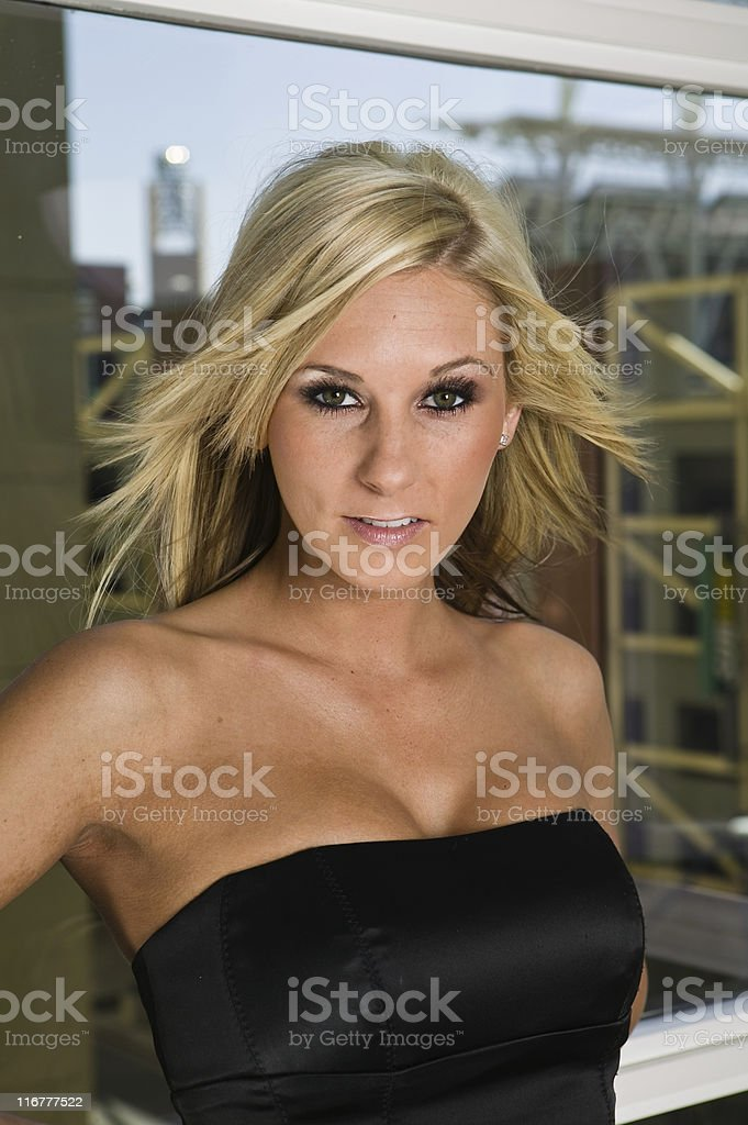 Blond Female Model royalty-free stock photo