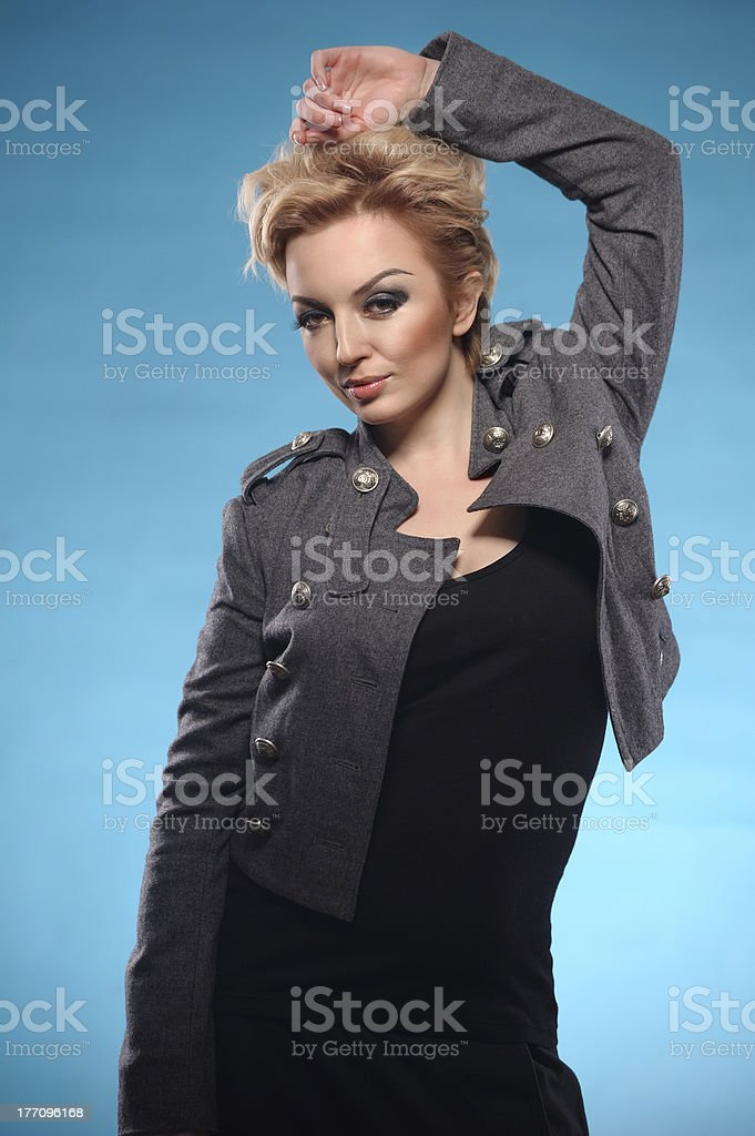 Blond femme fatale royalty-free stock photo