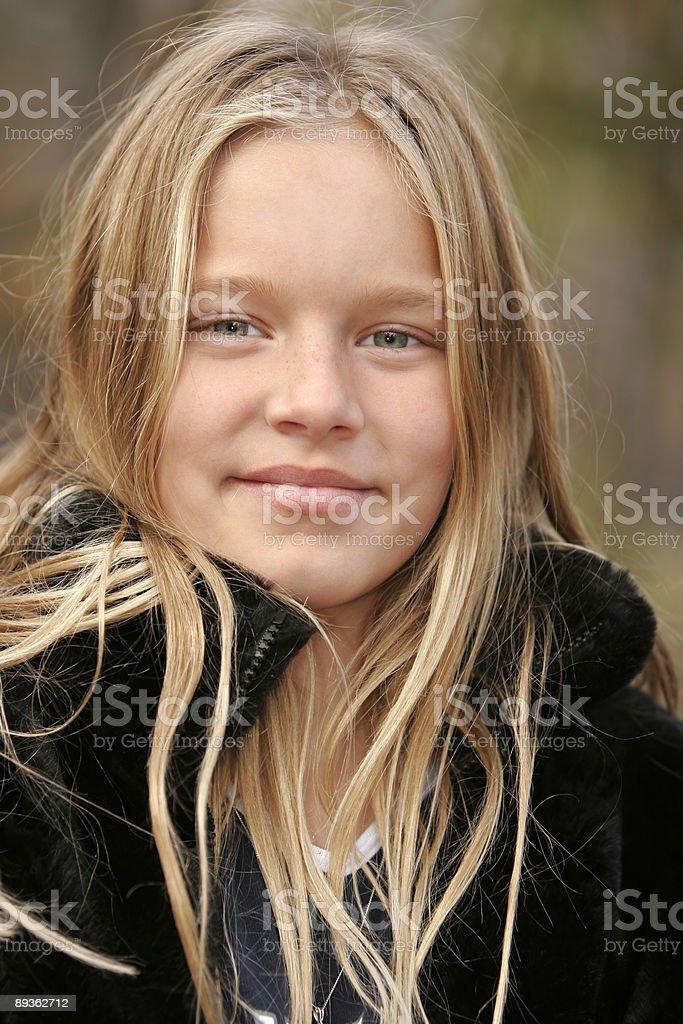 Blond girl royalty-free stock photo