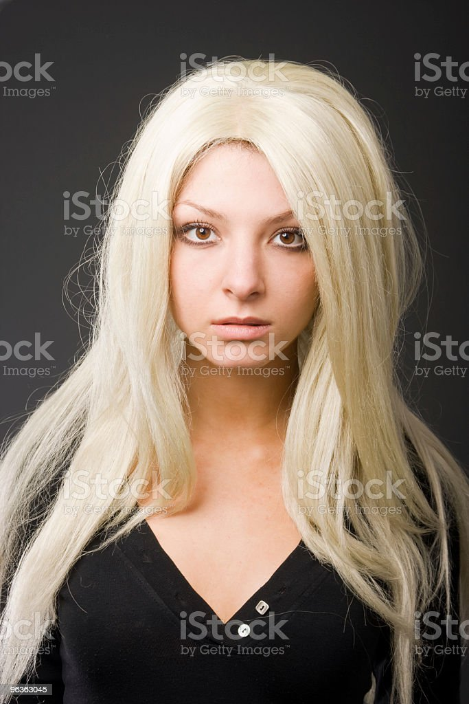 Blond girl royalty-free stock photo