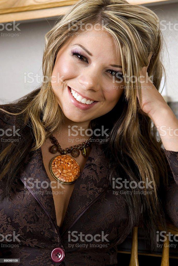 Glamour Portrait Blondes Lizenzfreies stock-foto
