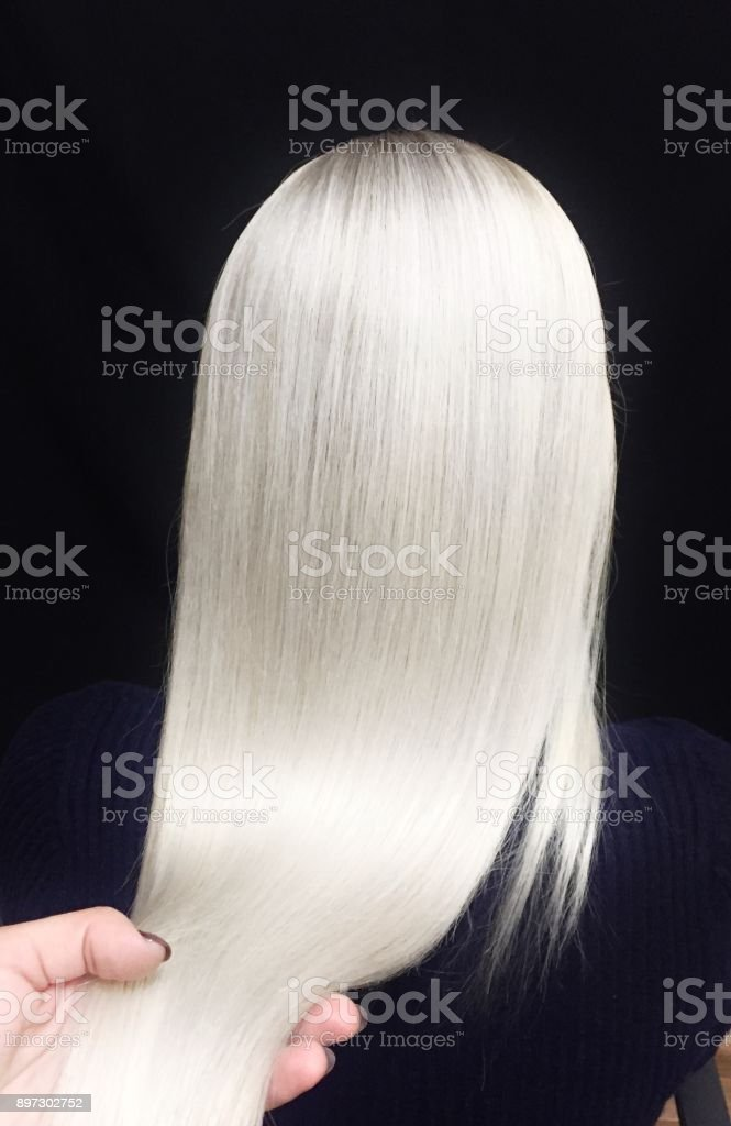 color de pelo rubio - foto de stock