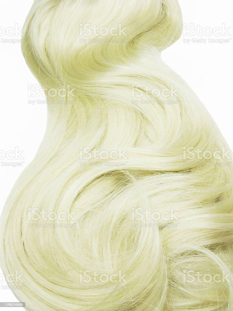 blond hair long curls royalty-free stock photo
