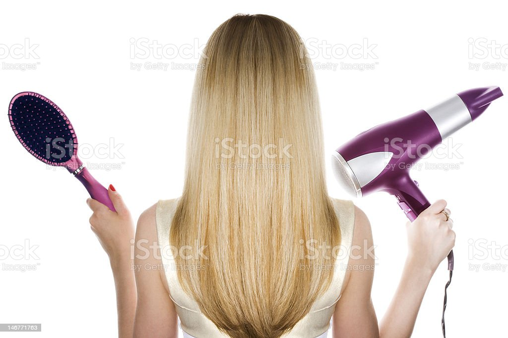 Blond hair stock photo