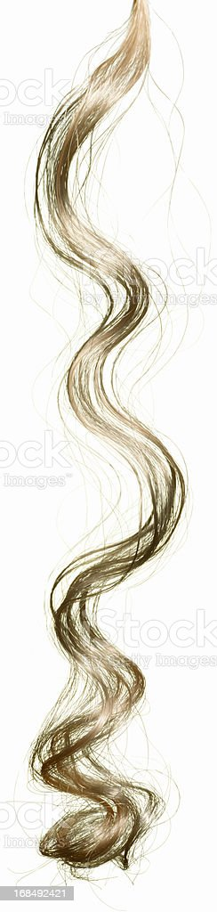 blond hair piece on white royalty-free stock photo