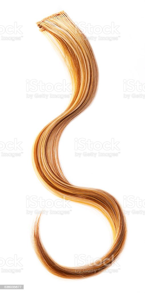 Blond hair piece stock photo