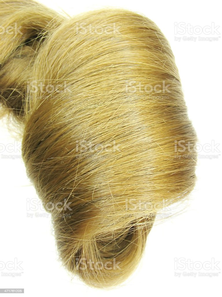 blond hair wave texture background stock photo