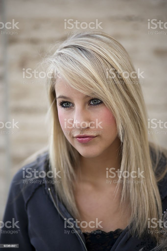 Blond Haired Teenage Girl royalty-free stock photo
