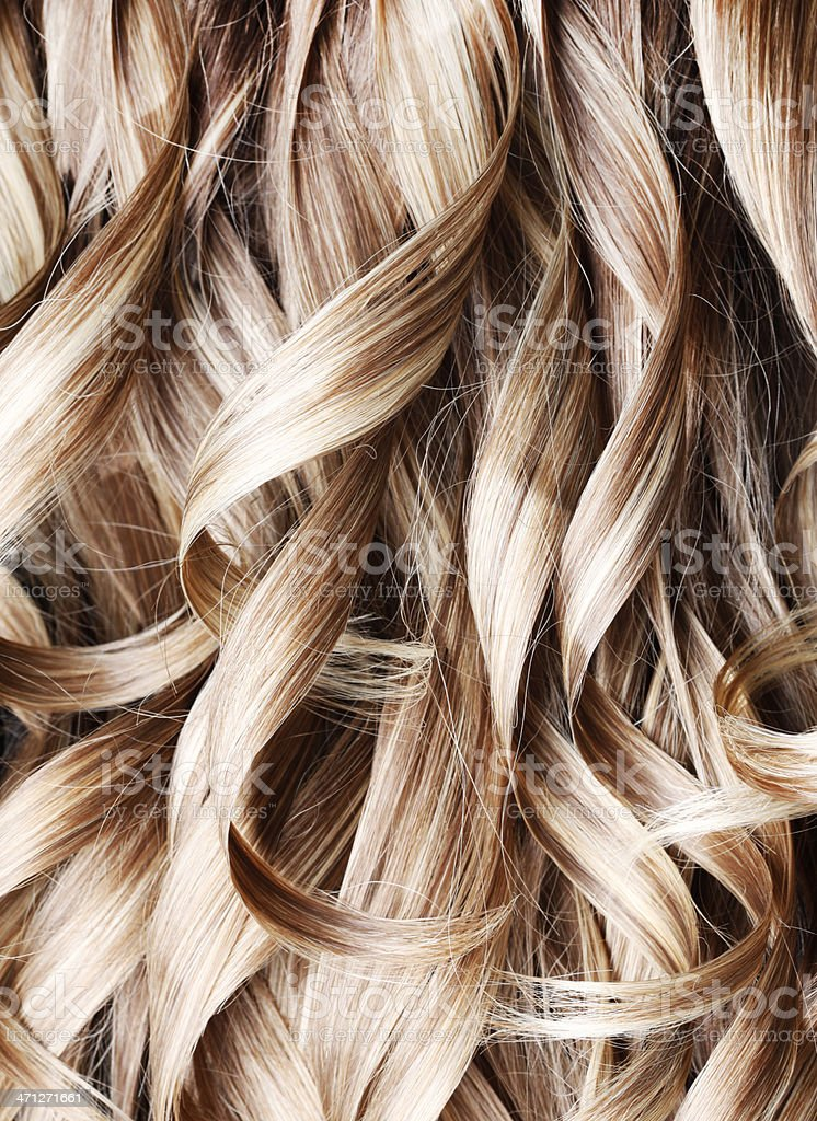 Blond Highlight Curly Hair Background Stock Photo More Pictures Of
