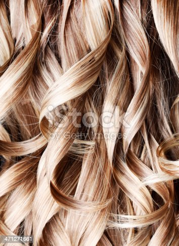 Blond Highlight Curly Hair Background