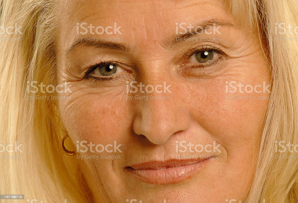 blond lady close up royalty-free stock photo