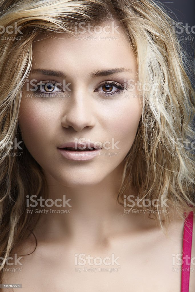 blond natural woman royalty-free stock photo