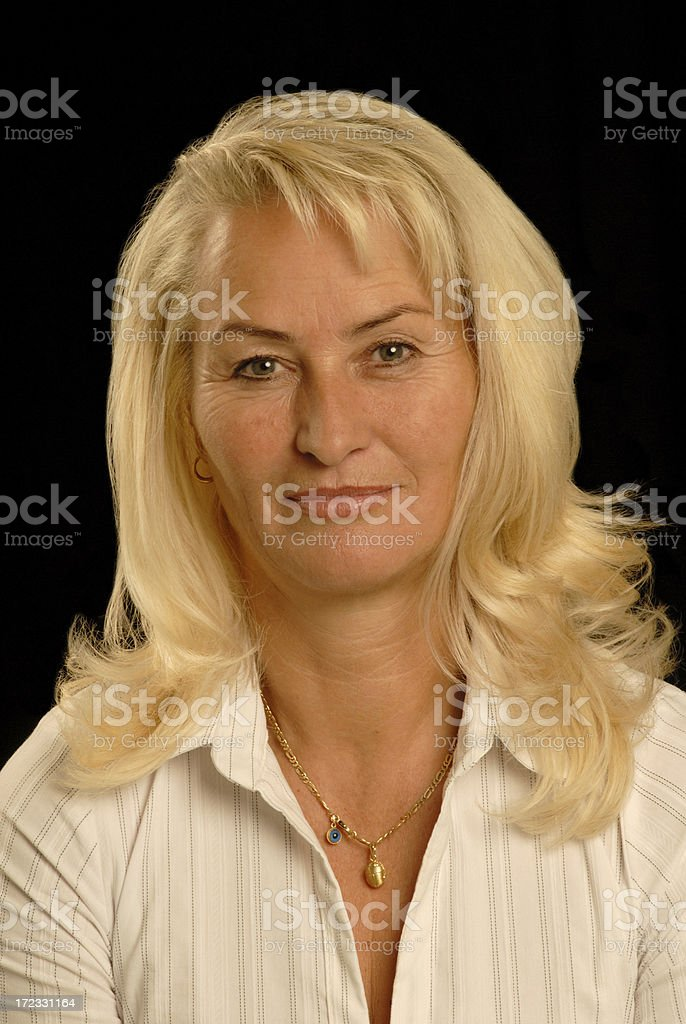 blond senior lady royalty-free stock photo