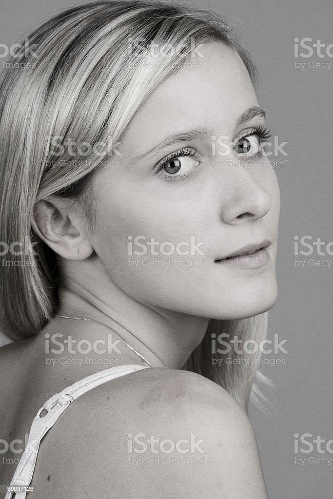 Blond teenager portrait royalty-free stock photo