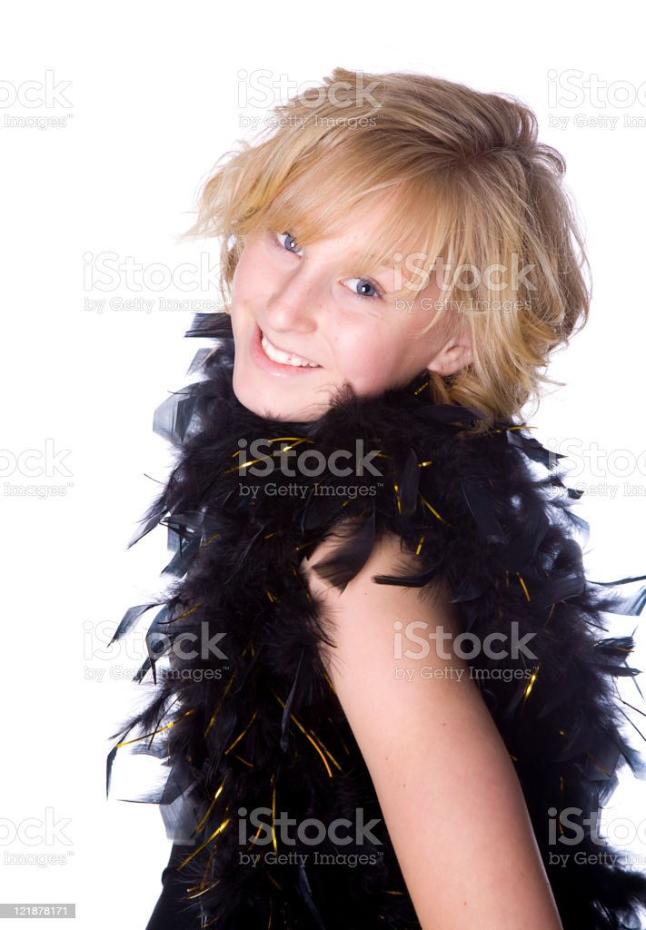 Blond Tween Girl royalty-free stock photo
