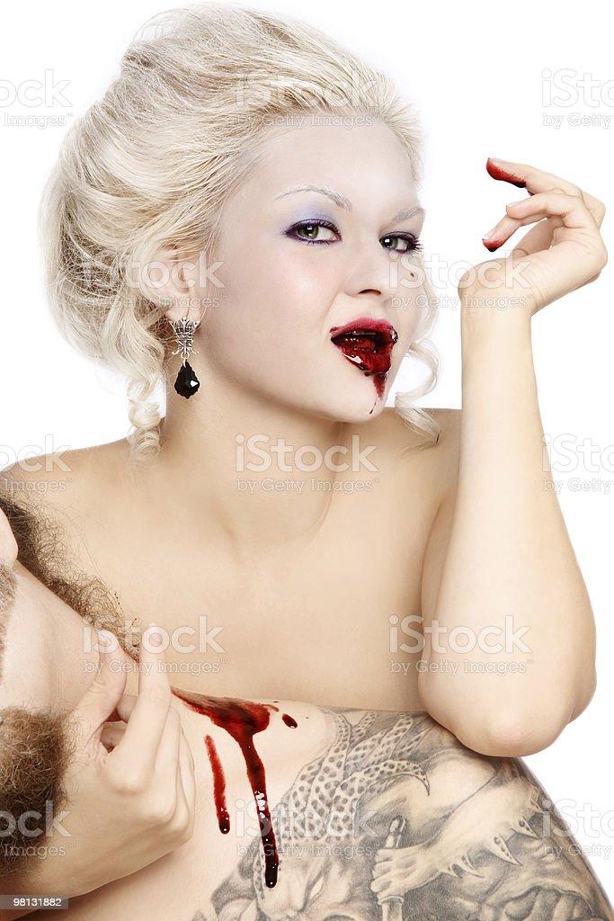 Capelli biondi Vampiro foto stock royalty-free