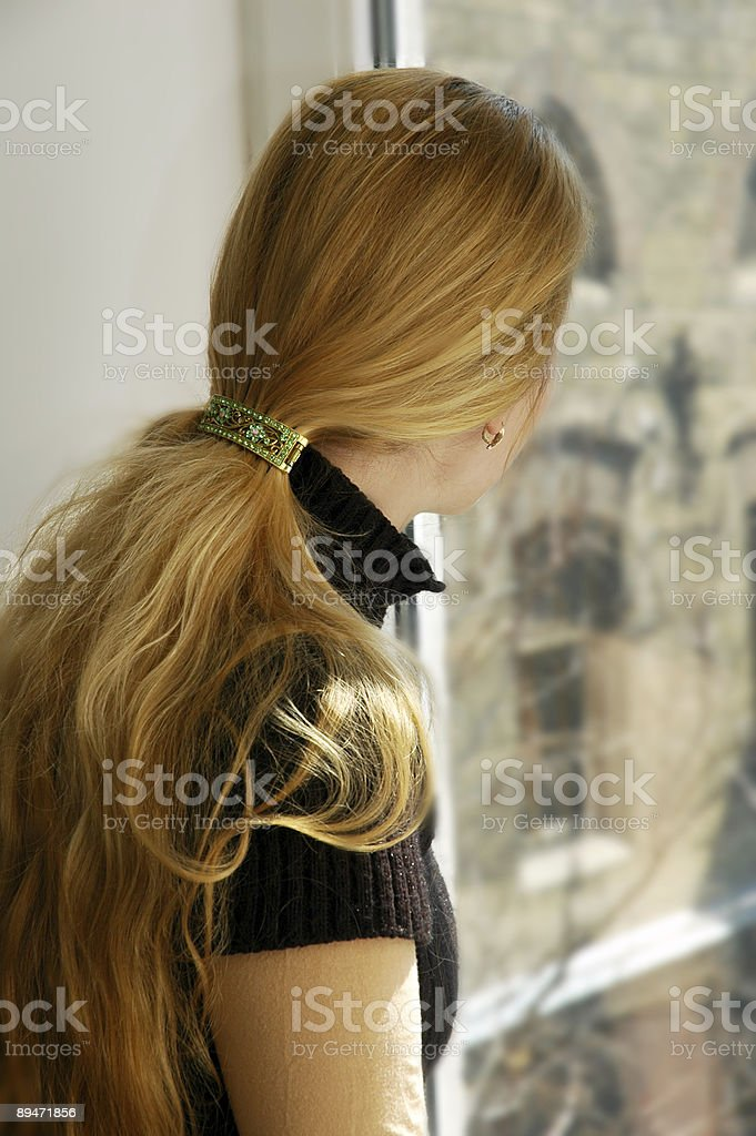 blond waiting royalty-free stock photo