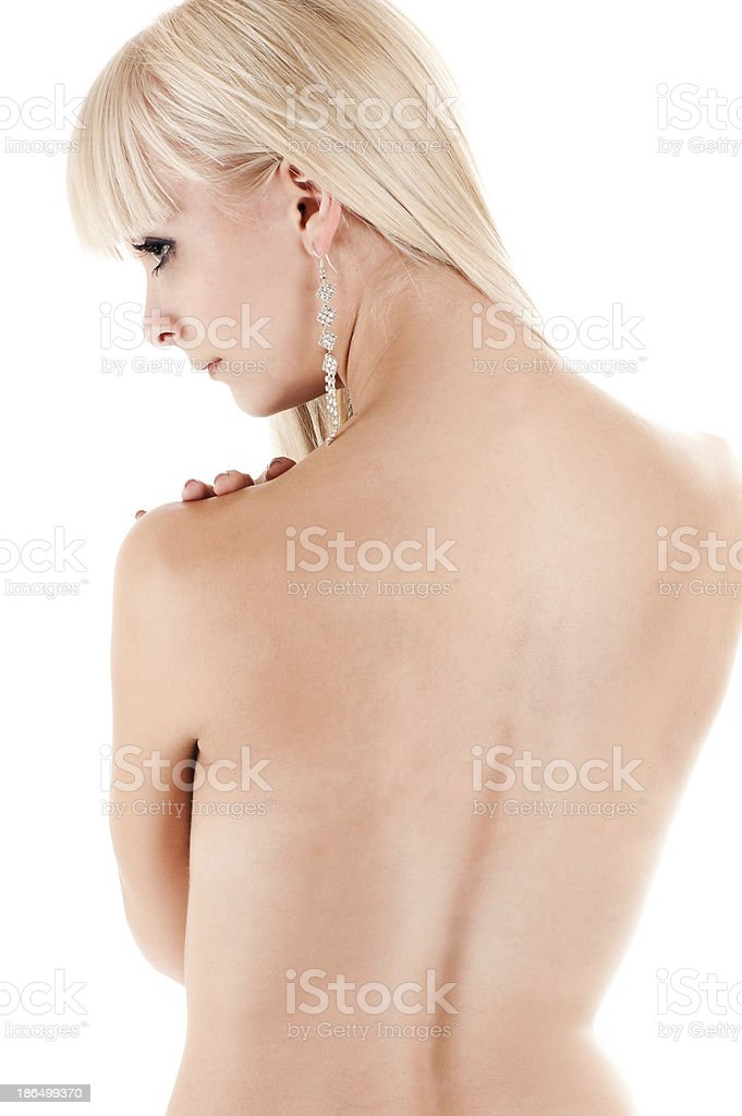 blond woman cares for the skin royalty-free stock photo