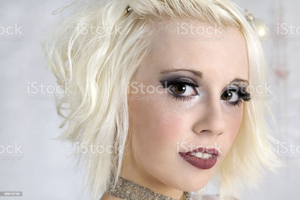 Blond woman, close-up, portrait royalty-free stock photo
