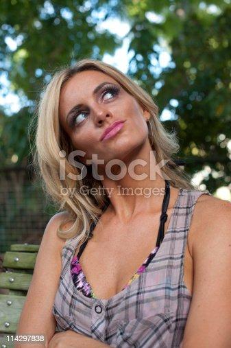 istock Blond woman gesturing 114297838