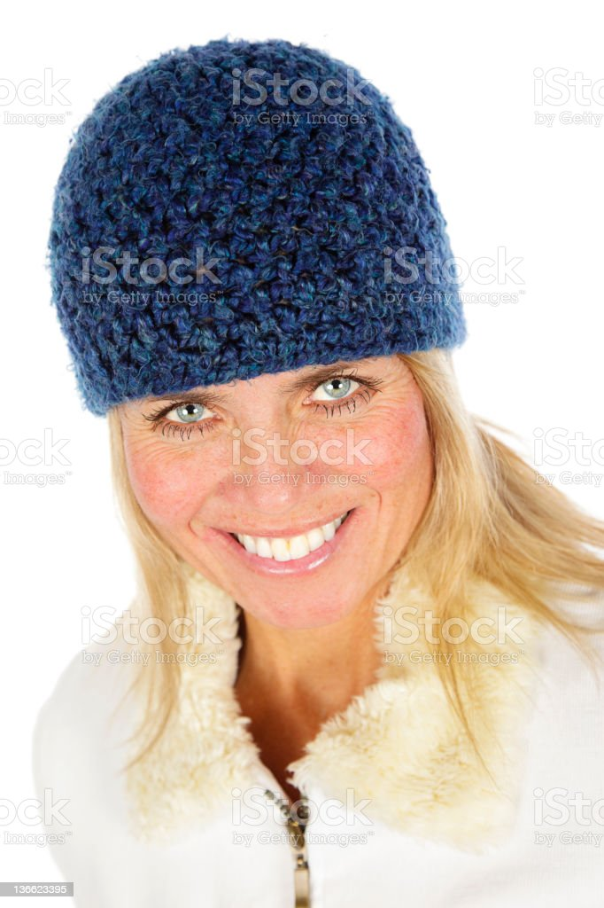 Blond Woman in Winter Clothing royalty-free stock photo