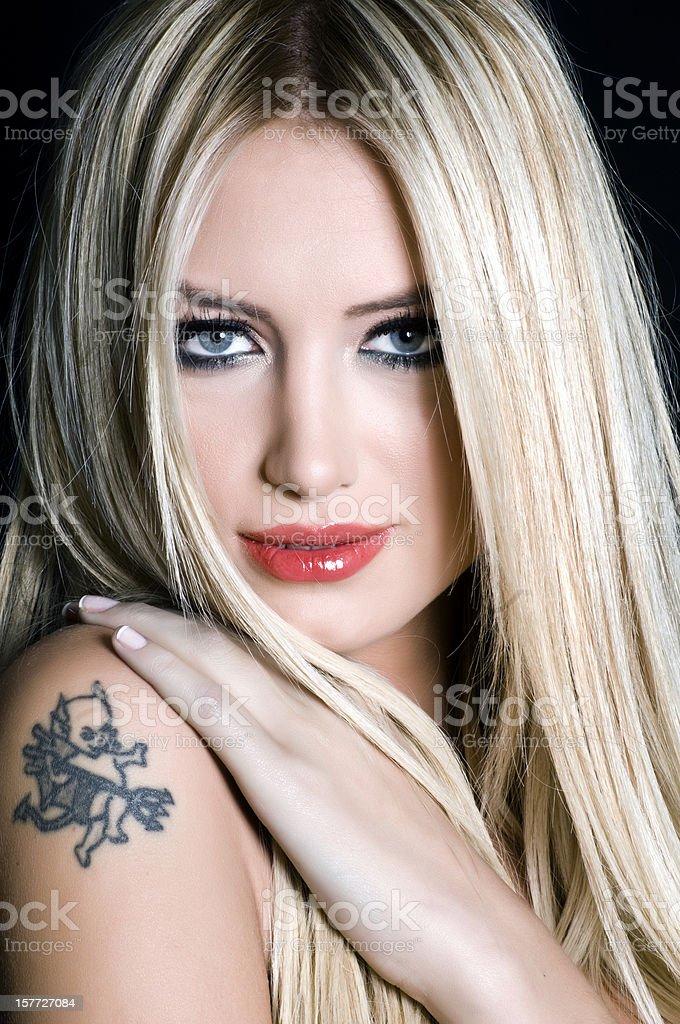 Blond woman royalty-free stock photo