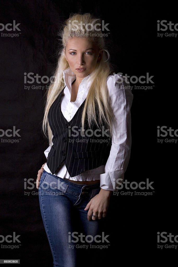 blond kobieta zbiór zdjęć royalty-free
