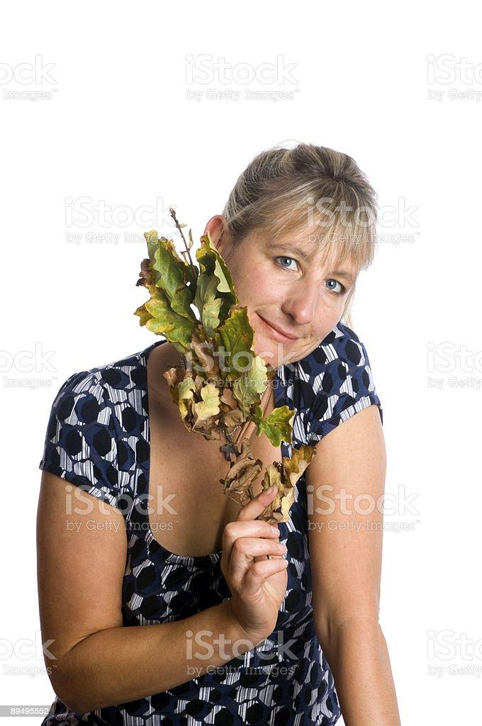 Blond woman royalty free stockfoto