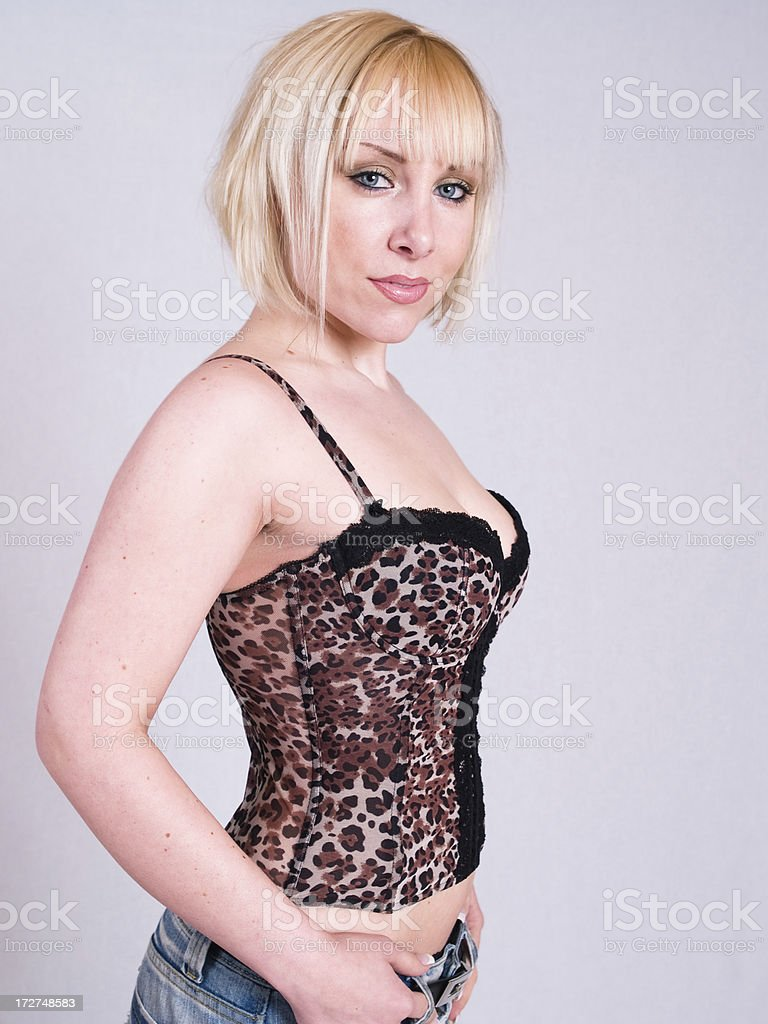 Blond young woman royalty-free stock photo