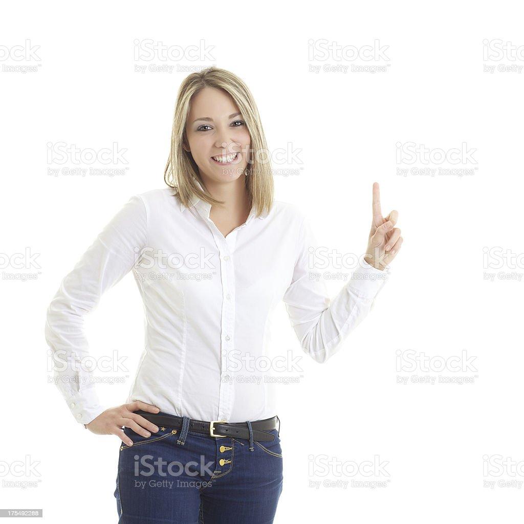 Blonde advertizing stock photo