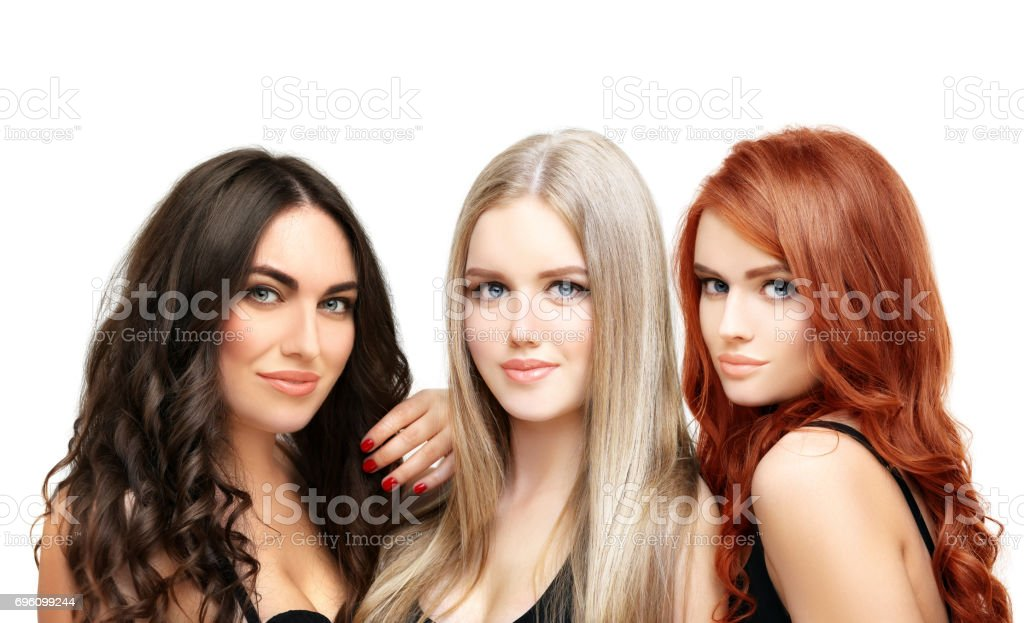 f396db85 Blonde And Brunetteconcept Coloring Hair Stock Photo & More Pictures ...