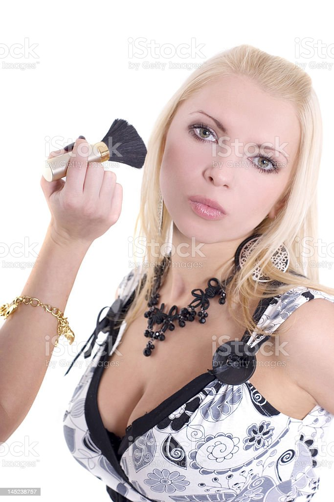 Blonde at Make-up Studio royalty-free stock photo