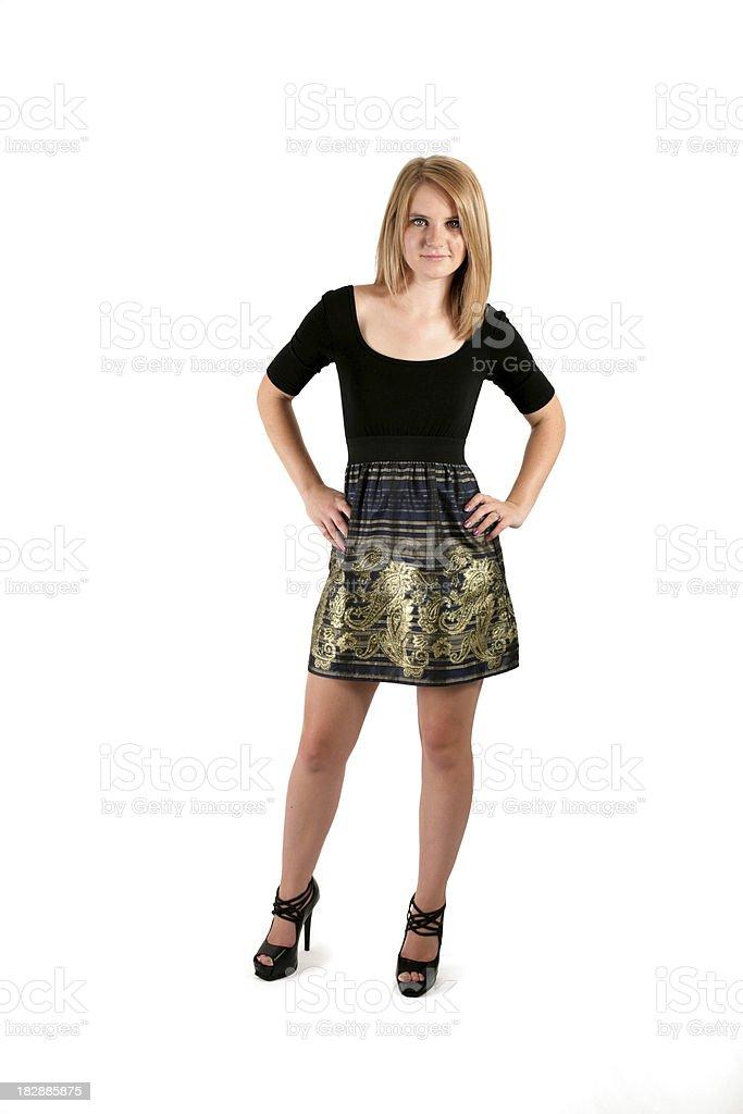 Blonde Attitude royalty-free stock photo