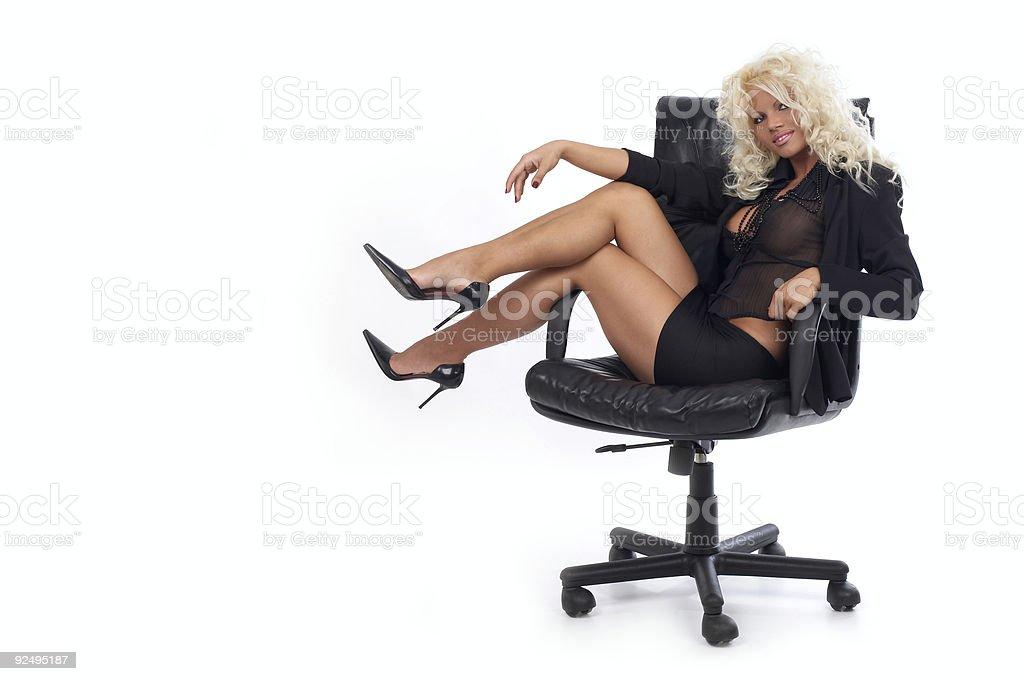 Blonde Boss royalty-free stock photo