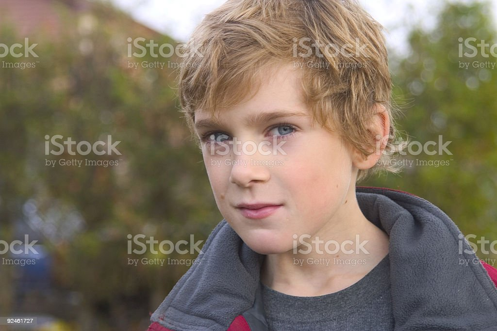 Blonde boy blue eyes stock photo more pictures of back istock - Blonde yeux bleu ...
