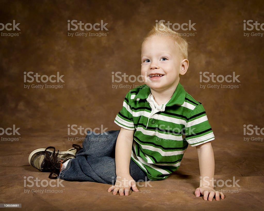 Blonde Boy Portrait royalty-free stock photo