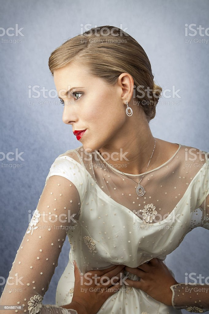 Blonde bride royalty-free stock photo