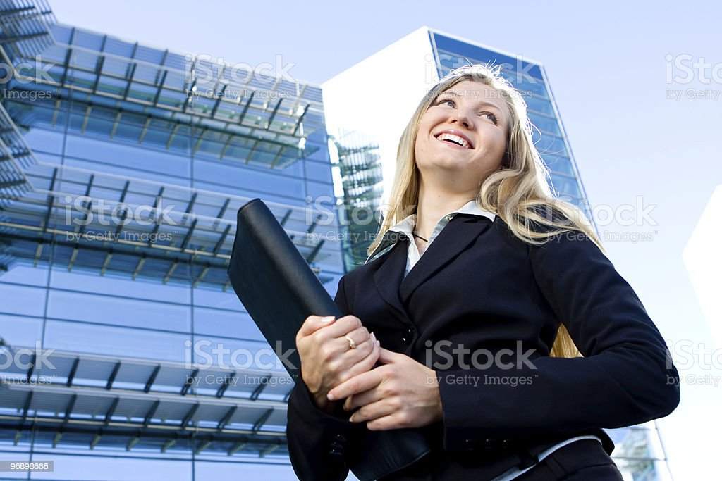 Blonde business woman royalty-free stock photo