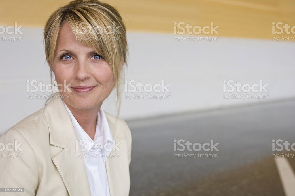 Blonde Businesswoman royalty-free stock photo