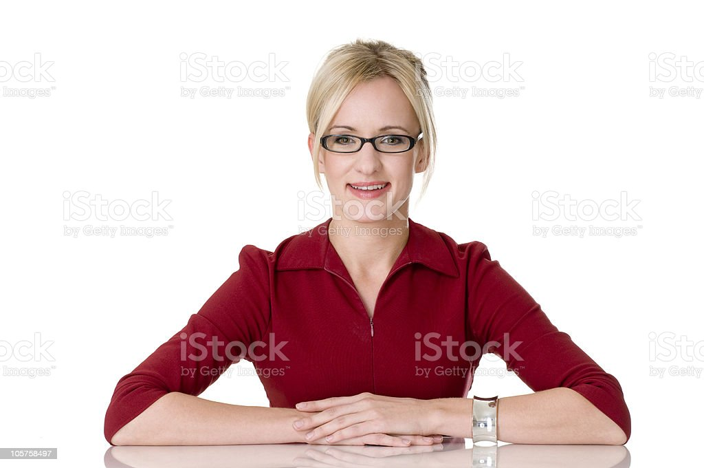 Blonde Corporate Type royalty-free stock photo