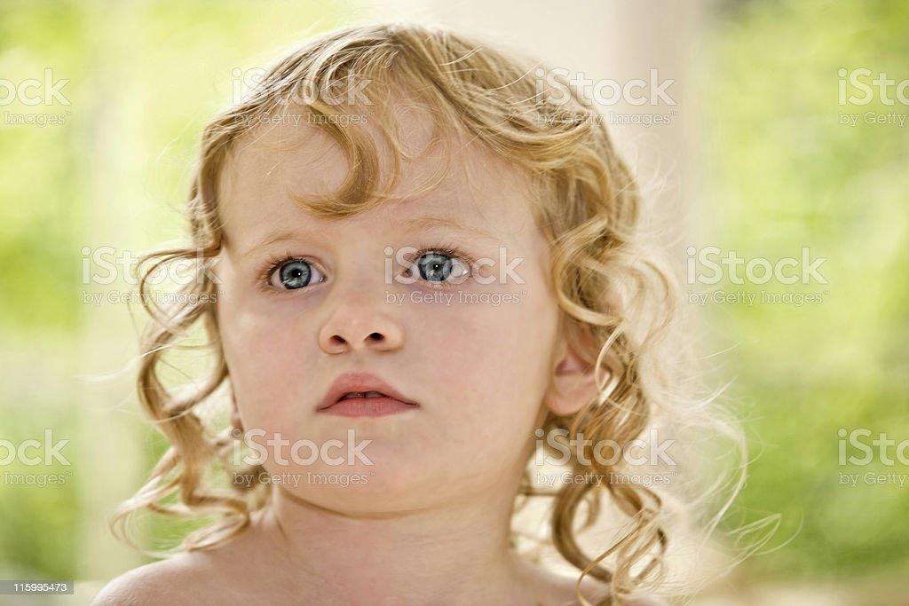 Blonde Curls stock photo
